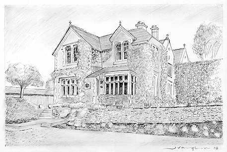Commission House Pencil Sketch Hand Drawing Art Whitstable J